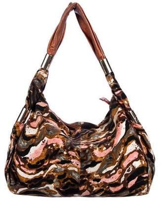9574181f68c9c Missoni Leather-Trimmed Print Hobo