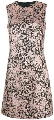 Dolce & Gabbana metallic floral-jacquard mini dress