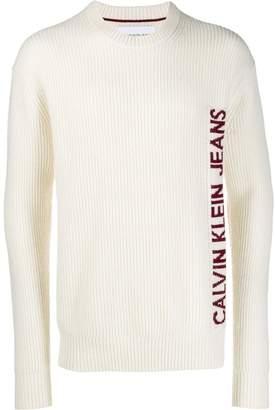 Calvin Klein Jeans logo embroidered jumper
