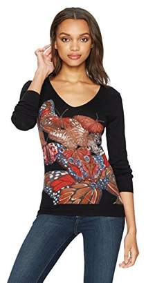 Desigual Women's Mery Woman Flat Knitted Thin Gauge Pullover