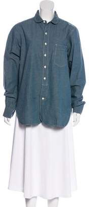 Chimala Long Sleeve Chambray Button-Up Blouse