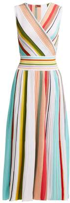 Missoni Pleated Multi Stripe Cotton Dress - Womens - Multi Stripe