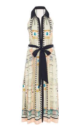 Temperley London Obelisk Collared Crepe Dress