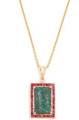 Jade Jagger Emerald, ruby & yellow-gold necklace