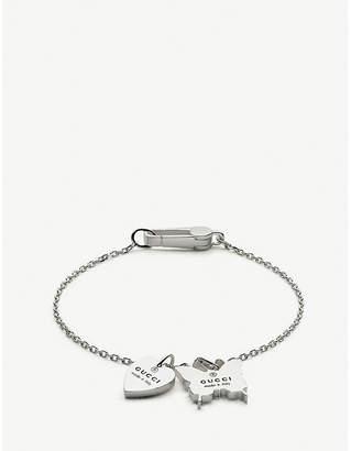 Gucci Heart & butterfly charm bracelet
