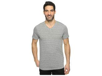 Agave Denim Hal Short Sleeve V-Neck Tri-Blend Jersey Stripe Block Men's Clothing