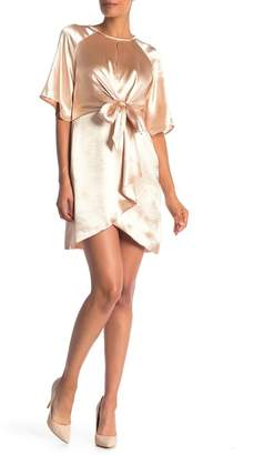 Laundry by Shelli Segal Satin Tie Front Dress