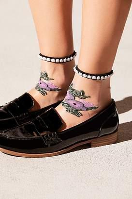 Pretty Petal Mesh Anklet