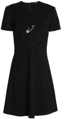 Versace Embellished Stretch-Ponte Mini Dress