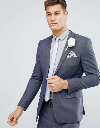 French Connection Skinny Wedding Suit Jacket in Birdseye