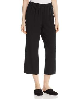 Eileen Fisher Straight Crop Silk Pants