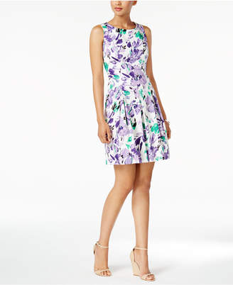 Nine West Floral-Print Fit & Flare Dress $79 thestylecure.com