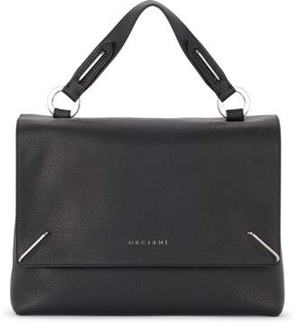 Orciani Kate Black Tumbled Leather Handbag