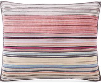 Martha Stewart Collection Rustic Yarn-Dyed Stripe 100% Cotton King Sham