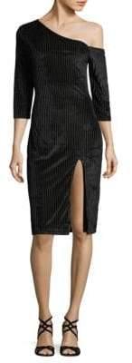 MinkPink One-Shoulder Knee-Length Dress