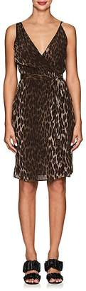 L'Agence Women's Julieta Leopard-Print Silk Wrap Dress