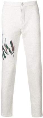 Mr & Mrs Italy graffiti-print slim-fit trousers