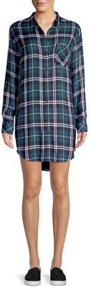 Rails Bianca Rayon Plaid Shirtdress