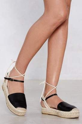 Nasty Gal Know the Ropes Espadrille Platform