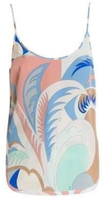 Emilio Pucci Silk Crepe Print Tank Top