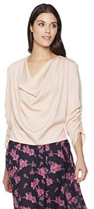 Suite Alice Women's Women's 3/4 Sleeve Drape Front Cowl Neck Top