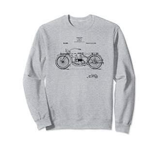 Classic Vintage Patent Print 1919 Motorcycle Sweatshirt