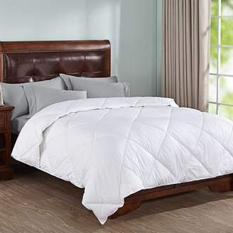 Peace Nest All Season White Down Alternative Comforter with Cotton Shell, Twin Size