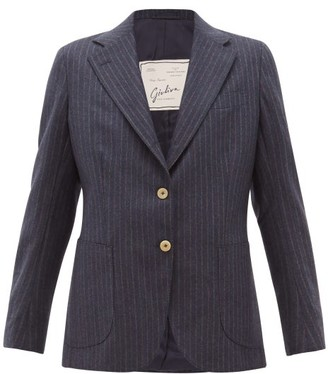 Giuliva Heritage Collection The Andrea Shadow Striped Wool Blazer - Womens - Navy Multi