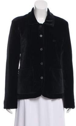 Sonia Rykiel Velvet Button-Up Jacket