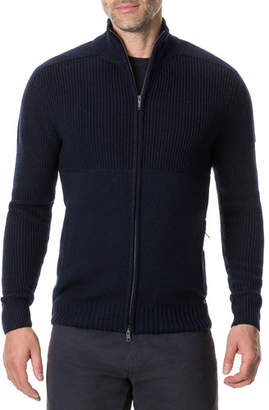 Rodd & Gunn Men's Kina Beach Zip-Front Merino Wool Sweater
