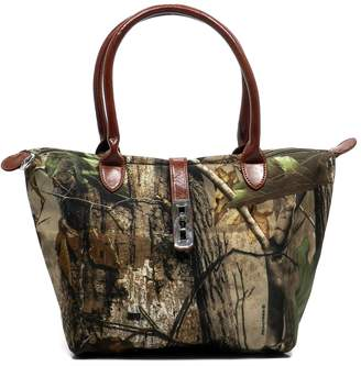 Realtree Real Tree Western Camouflage Canvas Shopper Tote Satchel Purse