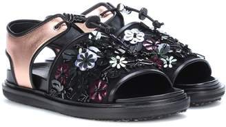 Marni Exclusive to mytheresa.com Embellished leather sandals