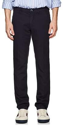 Barneys New York Men's Basket-Weave Cotton Slim Trousers