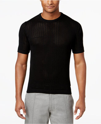 Sean John Men's Knit Eyelet Sweater, Created for Macy's $69.50 thestylecure.com