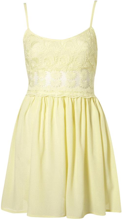 Topshop Petite Lace Strappy Dress