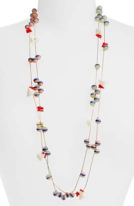 Lele Sadoughi Bead & Shell Layered Necklace