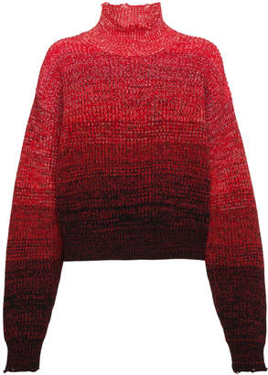 Helmut Lang high neck ombré knitted jumper