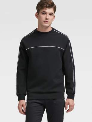 DKNY Crewneck Pullover With Reflective Stripes