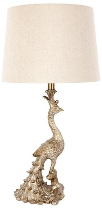 Cafe Lighting Peacock Table Lamp Antique Gold