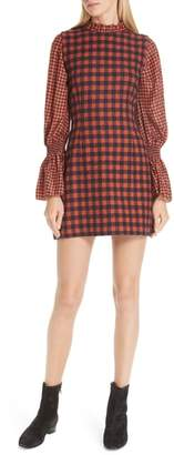 Sea Ethno Pop Checkered Combo Dress