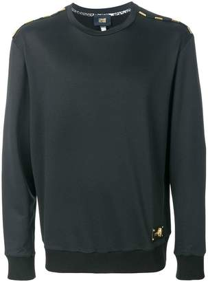 Class Roberto Cavalli embellished shoulder detail sweatshirt