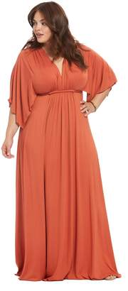 Theory White Label Long Caftan Dress - Paprika, Plus Size