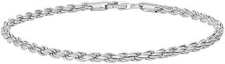 Men's Sterling Silver Rope Chain Bracelet