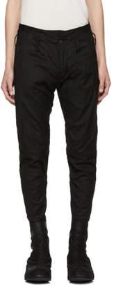 Julius Black Ribbed Trousers