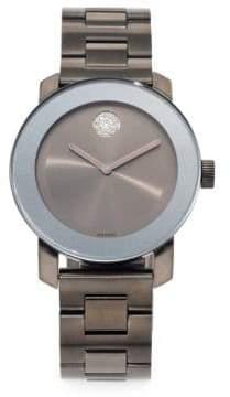 Movado Bold Grey IP Stainless Steel Bracelet Watch