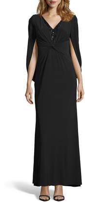Adrianna Papell Sequin Trim Jersey Gown