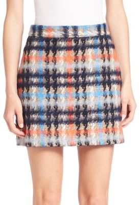 MILLY Plaid Mini Skirt $235 thestylecure.com