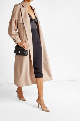 Burberry Silk Bishop Sleeved Trench $1,989 thestylecure.com