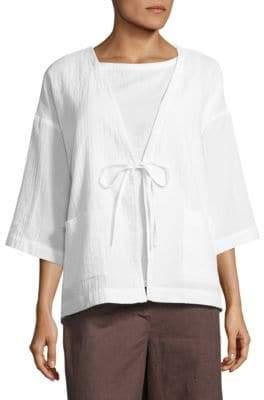 Eileen Fisher Organic Cotton Kimono Jacket