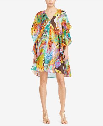 Lauren Ralph Lauren Floral Flutter-Sleeve Dress $155 thestylecure.com